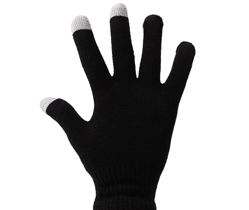 DURAGADGET Small Black Conductive Touch Screen Gloves For Huawei Ascend P6 Unlocked smartphone 1.5GHz Quad core K3V2E 6.18mm Thickness & LG G2