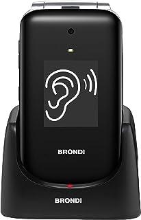 Brondi Amico Ampli Vox, Telefono cellulare GSM per anziani con tasti grandi, tasto SOS e funzione da remoto, dual SIM, vol...