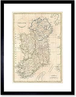 1799 CLEMENT CRUTTWELL MAP IRELAND VINTAGE ART PRINT FRAME F12X001