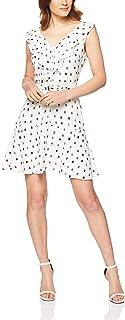 Oxford Women's Juliet Ruffle Geo Print Dress