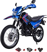 X-Pro 250 Motorcycle Bike Dirt Bike 229cc Adults Motorcycle Street Dirtbike with Gloves, Goggle and Handgrip