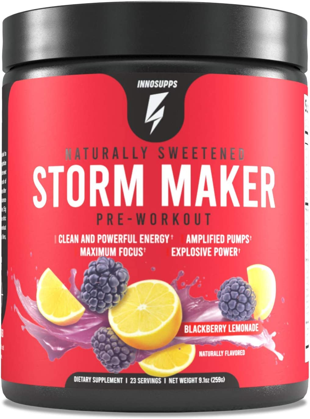 Inno Supps Storm Maker Pre Workout Lasting Organi 期間限定 本物◆ - Long Energy