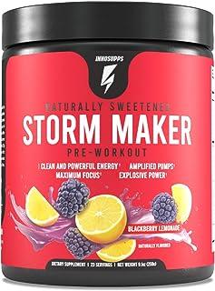 Inno Supps Storm Maker Pre Workout - Long Lasting Energy, Organic Caffeine & Yerba Mate, L-Citruline, Ashwagandha, Spectra...