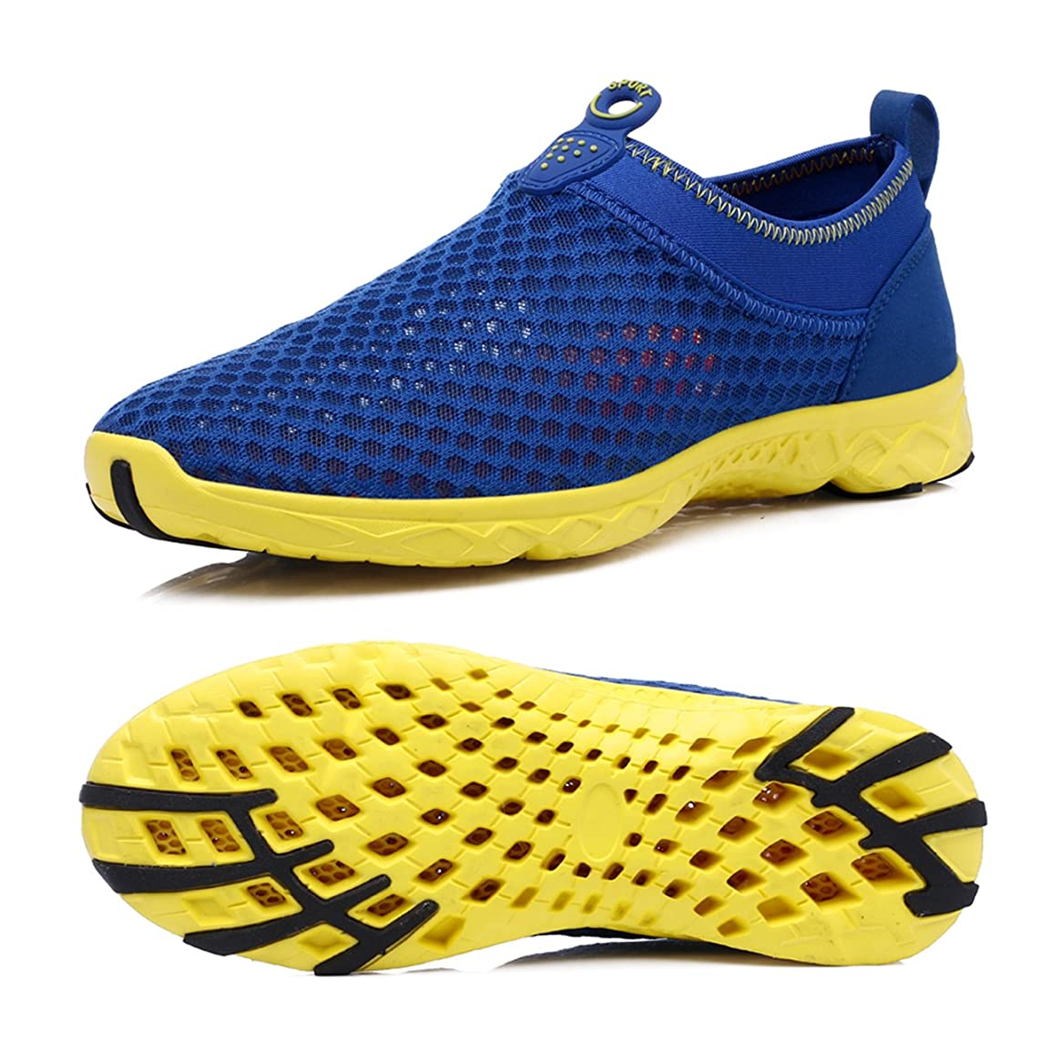 Wonder Pretty Walking Shoes Air Mesh Lightweight Running Gear Quick Dry Aqua Slip on Water Shoes for Women Men