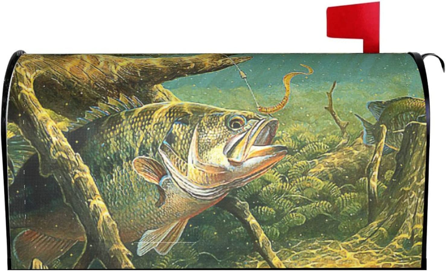 Granbey Bass Fish Welcome Mailbox shop Don't miss the campaign Magnetic Fishi Cover Beautiful