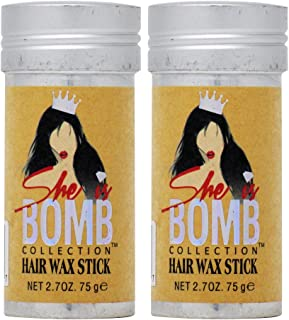 She Is Bomb Collection Hair Wax Stick 2.7 Oz. (Pack of 2)