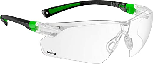 NoCry Safety Glasses with Clear Anti Fog Scratch Resistant Wrap-Around Lenses and No-Slip Grips, UV Protection. Adjustable...