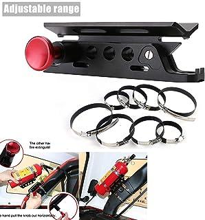 Jade Onlines UTV Adjustable Extinguisher Holder for Polaris RZR Ranger Jeep Wrangler Unlimited CJ JK TJ JL JT Rubicon Sahara Sport, Roll Bar Mount Quick Release Extinguisher Accessories