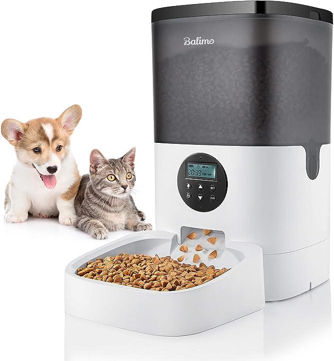 distributore automatico di cibo per gatti, cani,con timer programmabile, display lcd balimo 6l b08fl9gzm1