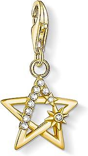 Thomas Sabo - Ciondolo in Argento Sterling Placcato Oro con zirconi e Stella con Pietre