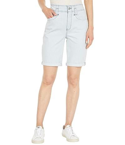 NYDJ Ella Higher Rise Denim Shorts in Rena Stripe
