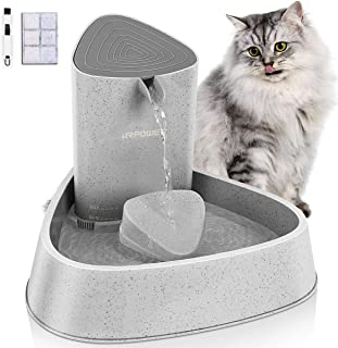 URPOWER Pet Fountain, Upgraded Automatic Cat Fountain Dog Water Fountain Cat Water Dispenser, Adjustable Water Flow Setting Drinking Fountain Cat Bowl for Cats, Dogs, Pets