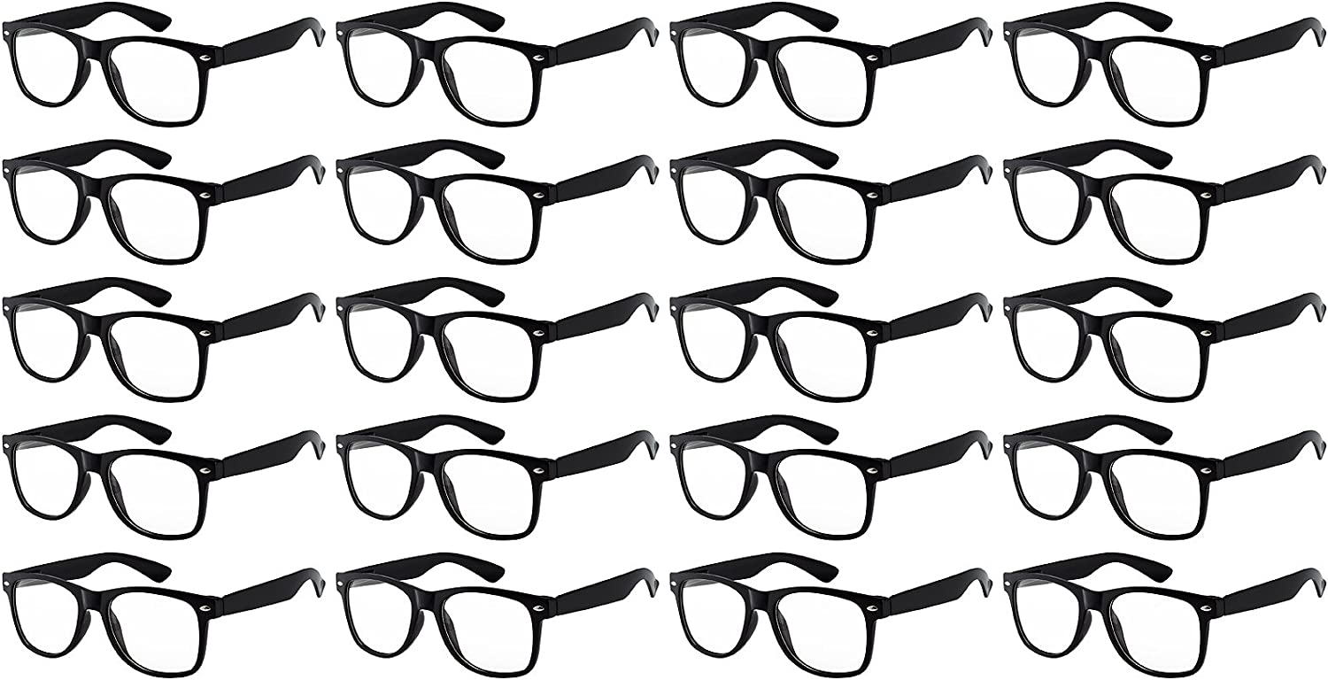 20 Pieces Wholesale Kids Clear Lens Glasses Protect Child's Eyes from UVB UVA