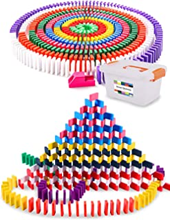 ドミノ 480個と130種のギミック 天然木製 【 お片付けボックス 詳しい日本語説明書付 】 ドミノ倒し 積み木 プレゼントに最適 知育玩具 《 スマートドミノ 》