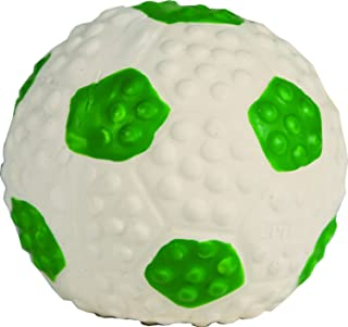 Li'l Pals Latex Soccer Ball, Perfect for Puppies and Toy Breeds, Green (2-Pack)