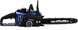 Zombi ZCS5817 16-Inch 58-Volt 4Ah Lithium Cordless Electric Chainsaw with Oregon Bar & Chain, Battery & Charger Included