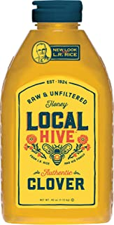 Local Hive from L.R Rice, Raw Honey, Pure and Unfiltered, Clover, 40oz