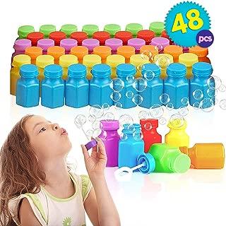 THE TWIDDLERS 48 Piezas de Mini Botes de Pompas de jabón - Estupendo Relleno para Niño Bolsas de Fiesta Juguetes y Detalles para cumpleaños y Navidad - Halloween piñata