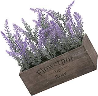 Lavender Artificial Potted Flower Plastic Fake Plants Pot Home Decor Simularion Pot Plant, Type 2