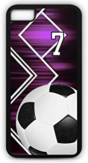 iPhone 8 Plus 8+ Phone Case Soccer SC053Z by TYD Designs in Black Plastic Choose Your Own Or Player Jersey Number 7