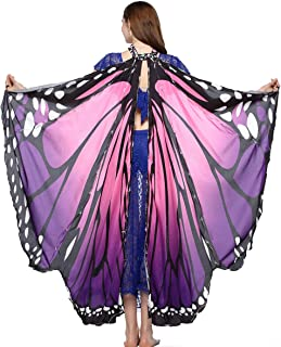 MISI CHAO LED Butterfly Wings - Halloween Costume Shawl Ladies Nymph Pixie Costume Accessory Soft Fabric