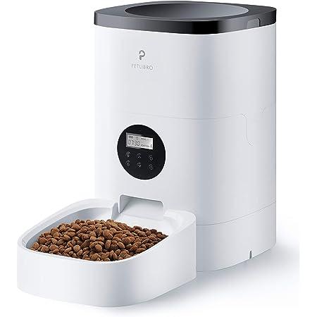 PETLIBRO 自動給餌器 猫 中小型犬用 自動餌やり器 4L大容量 手動給餌可 録音可 タイマー式 定時定量 1日4食 2WAY給電 清潔便利 ホワイト (不透明) (不透明)