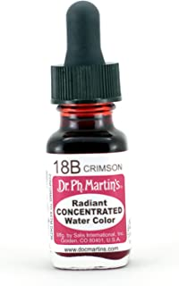 Dr. Ph. Martin's Radiant Concentrated Water Color, 0.5 oz, Crimson (18B)