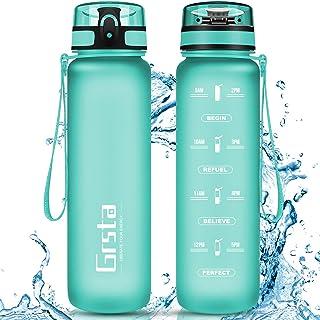 Grsta Botella Agua - Botella de Agua Deportes 350ml/500ml/800ml/1L/1.5L Botella Deportiva Tritan de Plástico Sin BPA con F...