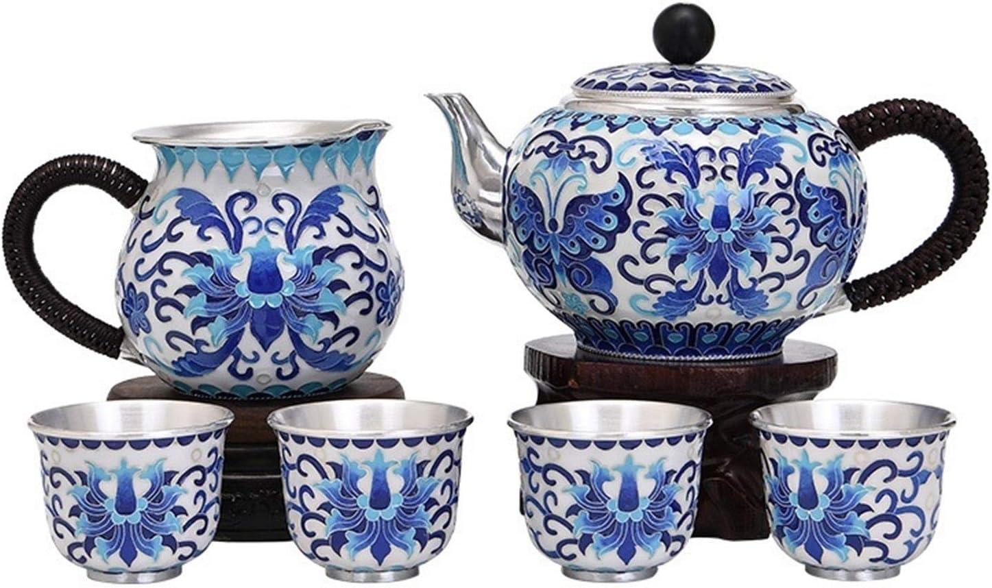 5 popular Max 84% OFF Silver Tea Set Antique Kung Fu Kett Teapot Metal Old Chinese