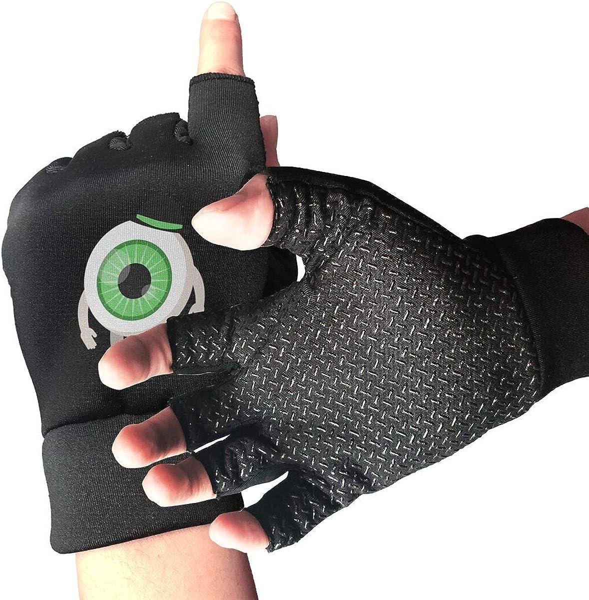 Gloves Happy Halloween Big Eyes Fingerless Gloves Short Touchscr