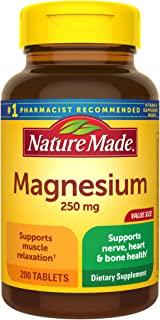 Nature Made Magnesium Oxide 250 mg Tablets, 200 Count Value Size