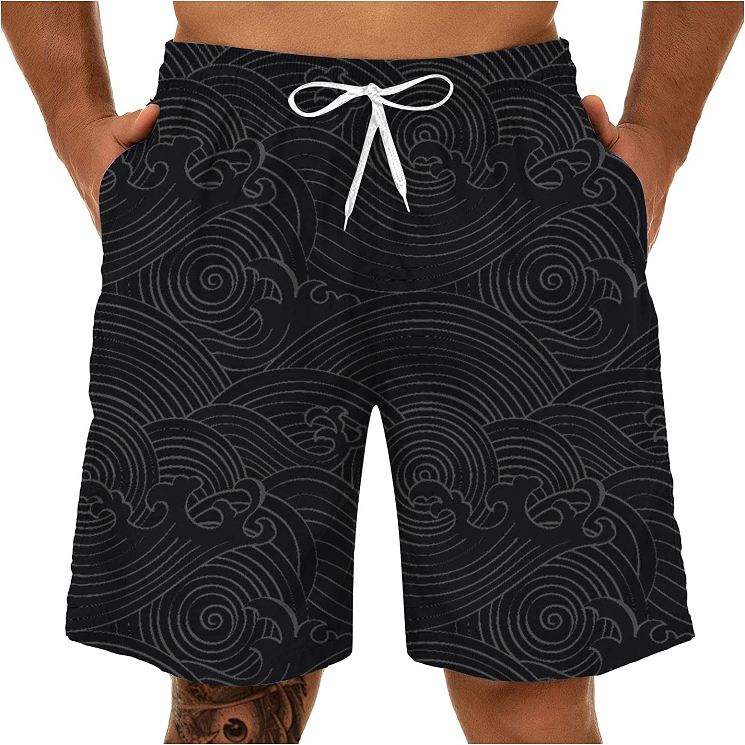 Swimming Trunks for Men 3D Quantity limited Beach Washington Mall Tropical Shorts Swims Dry Quick