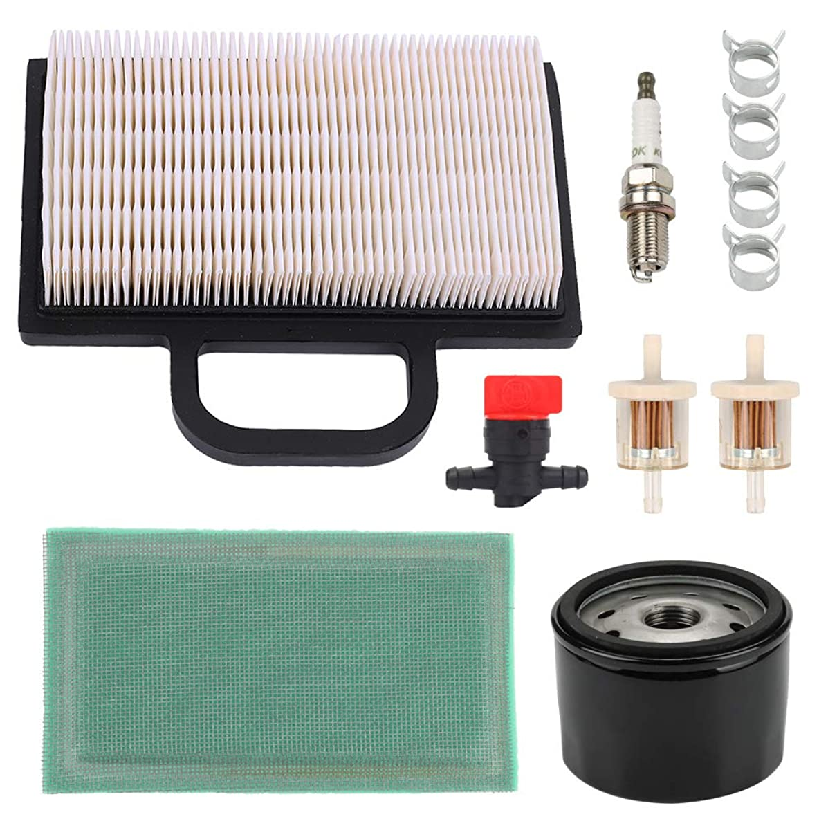 Hayskill 698754 499486S 273638 Air Filter 691035 Fuel Filter for Briggs & Stratton 18-26 HP Intek V-Twin Engine John Deere L120 L111 L118 LA120 LA130 LA140 D130 D140 Lawn Mower Tractor
