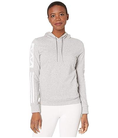 adidas Bold Block Pullover Hoodie (Medium Grey Heather) Women