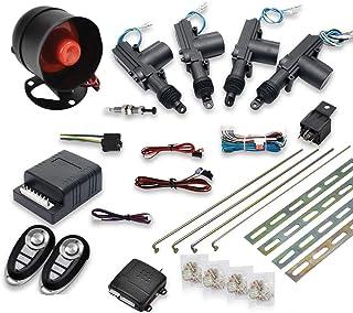 $63 » Maso Car Remote Central Locking Kit 4 Doors Keyless Entry System + Anti-Theft Alarm Immobiliser System with Shock Sensor U...