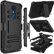 LGXpressionPlus Case, LG K10 2018 Case, LG K30 Case, Zenic Heavy Duty Shockproof Full-Body Protective Hybrid Case Cover with Swivel Belt Clip and Kickstand for LGPremierProLTE (Black)