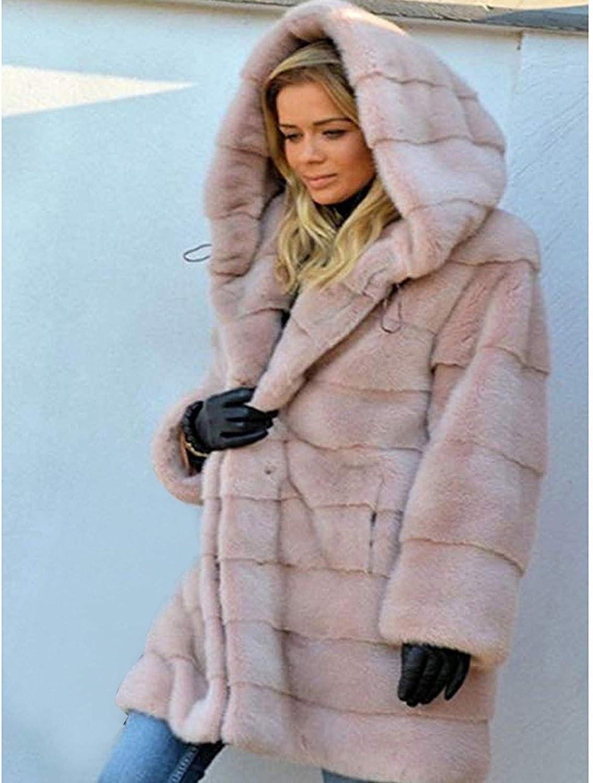 Womens Fuzzy Jacket Long Ulanda Winter Coats for Women Fur Jacket Hooded Long Cardigan Jackets Coat Warm Outwear