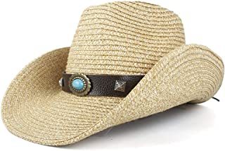 Sun Hat for men and women New Fashion Natural Straw Womem Men Western Cowboy Hat Panama Hat For Summer Handmade Lifeguard Cowgirl Hombre Sombrero Caps