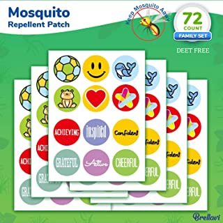 Brellavi Mosquito Repellent Patches, Natural Essential Oil Mosquito Repellent Patches, Deet-Free Mosquito Repellent Stickers, Best Mosquito Repellent Patches for Family, 72 Count