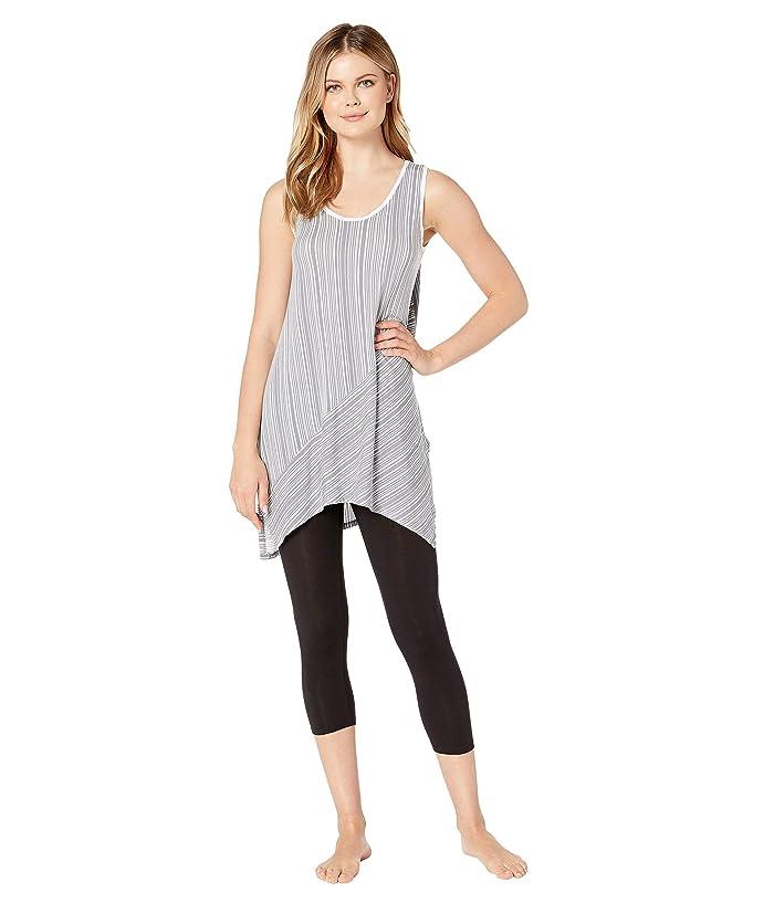 Donna Karan Sleeveless Tunic Leggings Set (Grey Stripe) Women
