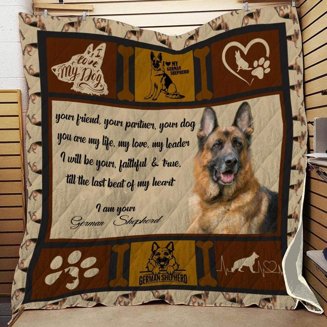Personalized German Shepherd Quilt - Sale SALE% OFF Q Your Special price I Am