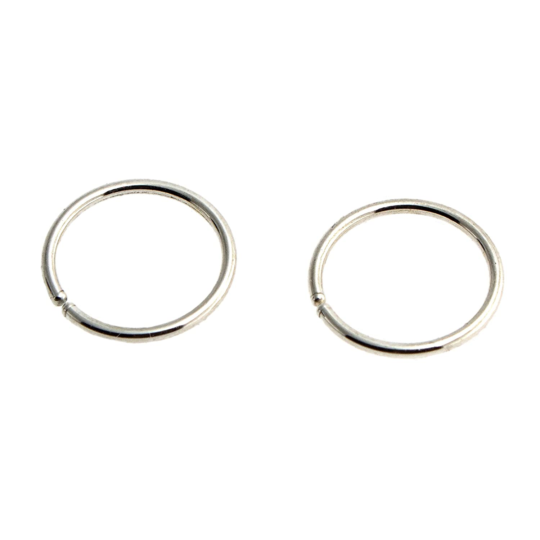 9mm 18 Gauge Sterling Silver Open Ranking TOP15 Ring Tragus Max 63% OFF Hoop Piercing Heli