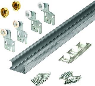 "Slide-Co 161791 Bi-Pass Closet Track Kit (2 Door Hardware Pack), 48"""