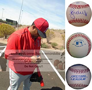 Jose Molina Los Angeles Angels Autographed Hand Signed Baseball with Exact Proof Photo, Toronto Blue Jays, New York Yankees, Chicago Cubs, Tampa Bay Rays, COA