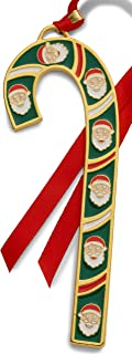 Wallace 2019 Gold-Plated & Enameled Candy Cane (Santas) -39th Edition Holiday Ornament, Metal