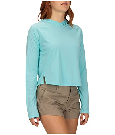 Hurley Hybrid One and Only Long Sleeve Surf Top (Light Aqua Heather) Women