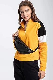 DeFacto Yarım Fermuarlı Renk Bloklu Sweatshirt
