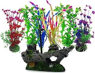 Artificial Aquatic Plants, 6 Pcs Aquarium Plants,1 Pcs Artificial Fish Tank Decoration Resin Plastic Ornament, Aquarium Artificial Plastic Plants Decor Aquarium Landscape…