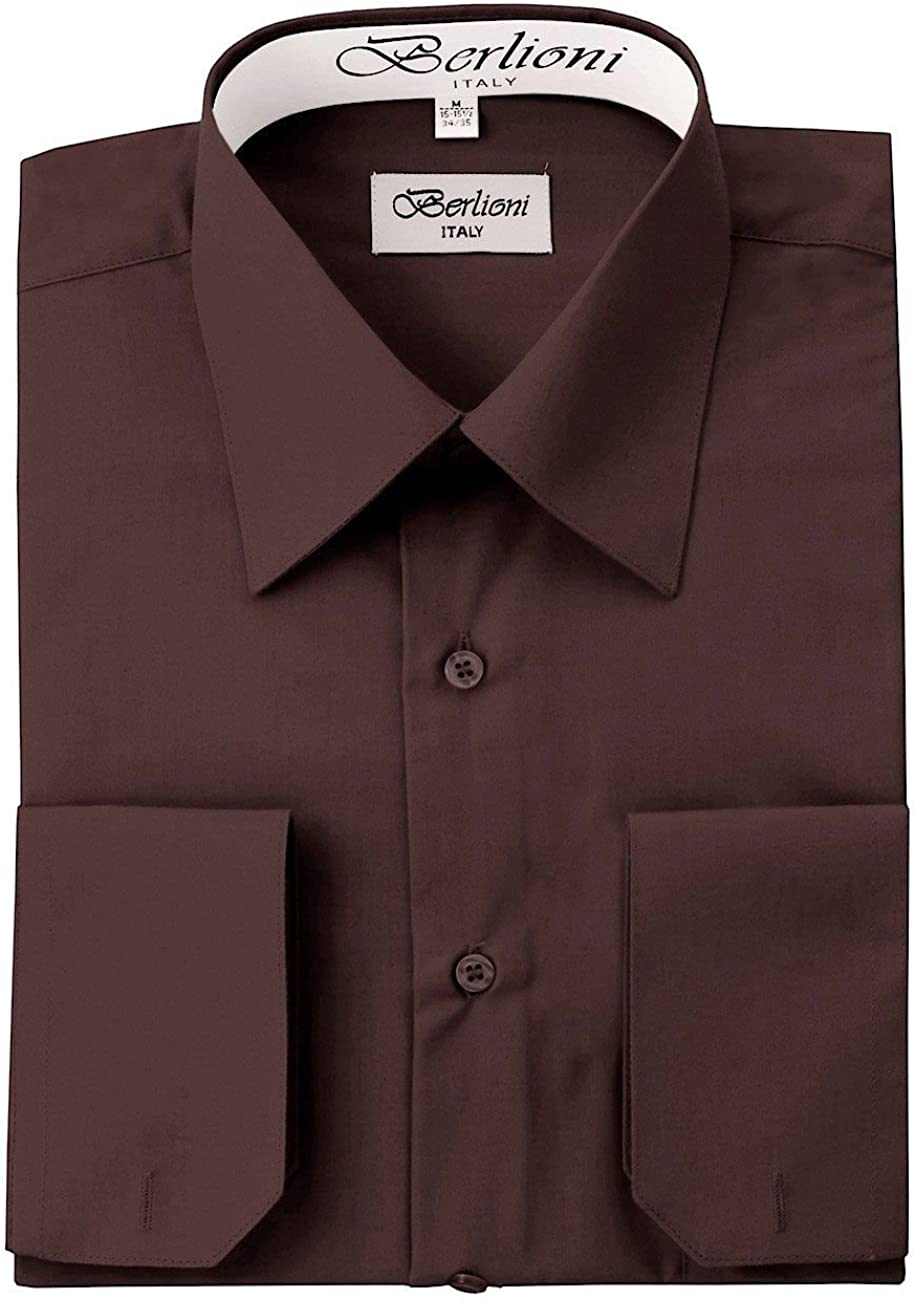 Brown Solid Mens Tampa Mall Shirt Dress 5 ☆ very popular
