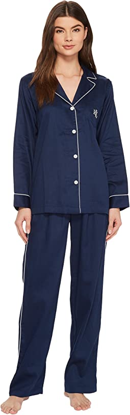 LAUREN Ralph Lauren - Long Sleeve Notch Collar PJ